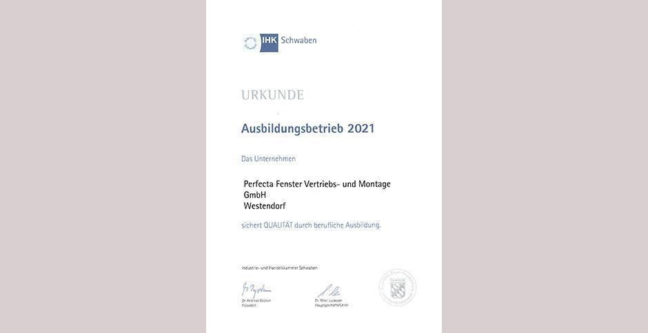 perfecta Fenster: Ausbildung 2021