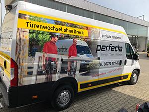 perfecta Fenster - Neues Montagefahrzeug