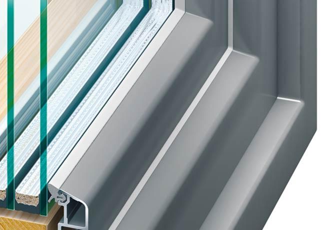 Holz / Alu-Fenster Aluminium-Außenschale