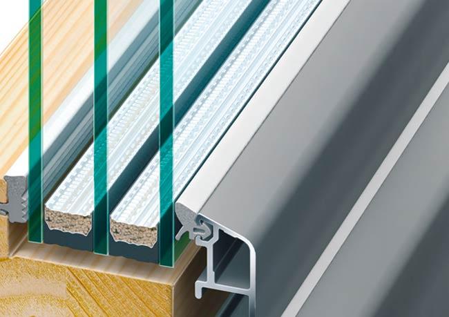 Holz / Alu-Fenster warme Kante