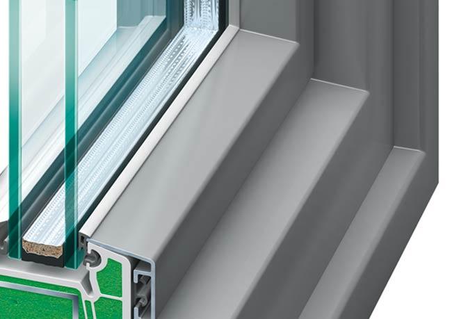 Kunststoff-Alu-Fenster Aluminium-Außenschale