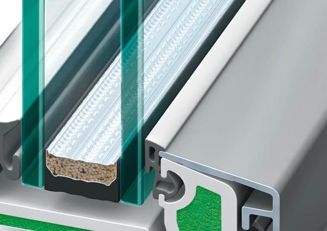 Kunststoff-Alu-Fenster warme Kante