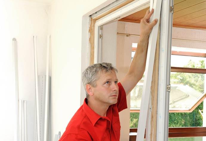 Fensterwechsel ohne Dreck - Einsetzen Fensterrahmen