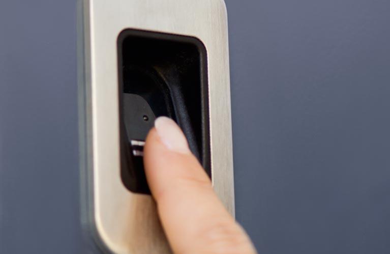 Sicherheit Haustüren Fingerscan