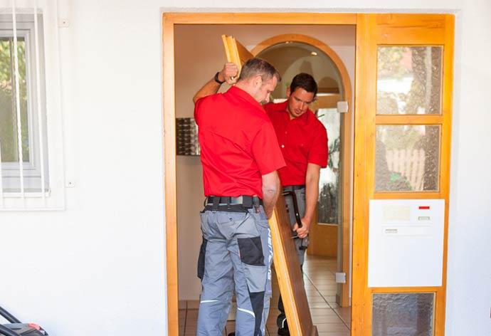perfecta Haustürwechsel ohne Dreck - Türblatt aushängen