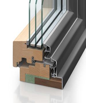 Holz/Alu-Fenster