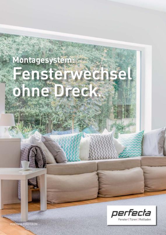 Broschüre Fensterwechsel ohne Dreck